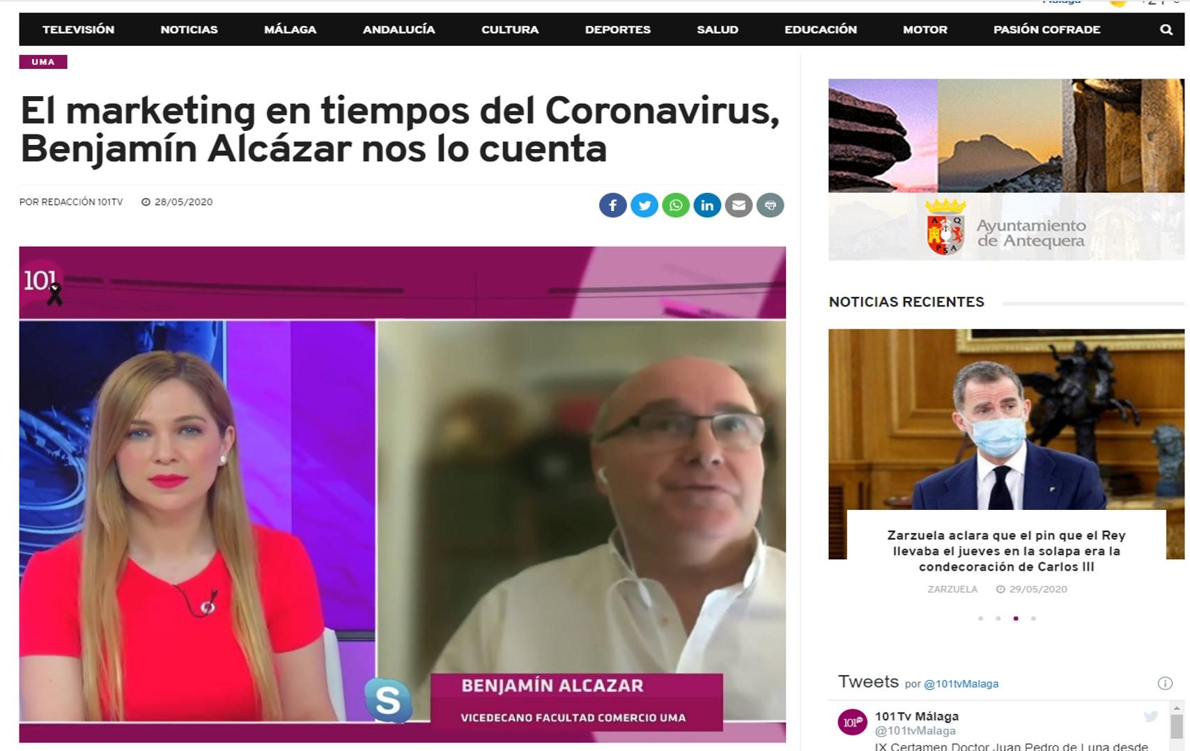 101TV entrevista en director al director del Máster con motivo de la firma del convenio con la Asociación Española de Retail