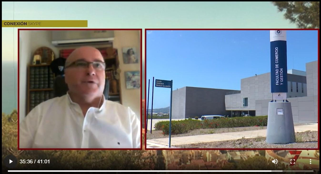 El programa Málaga de cerca de 7 TV entrevista al director del máster con motivo del convenio firmado con la Asociación Española de Retail