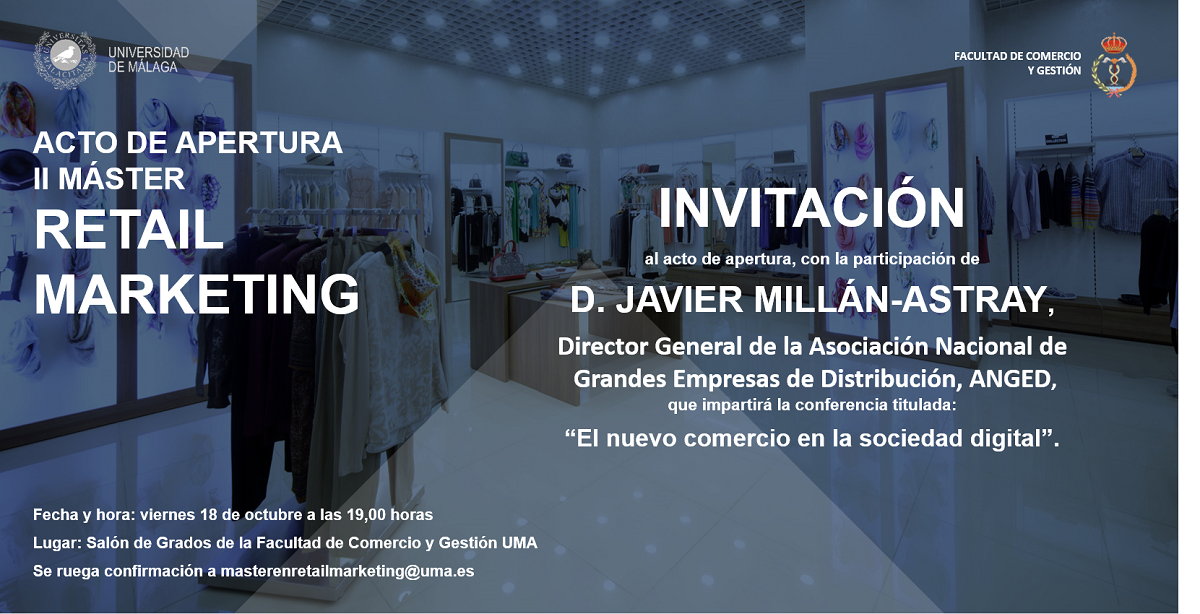 Acto de apertura de la II edición del Máster Propio Universitario en Retail Marketing