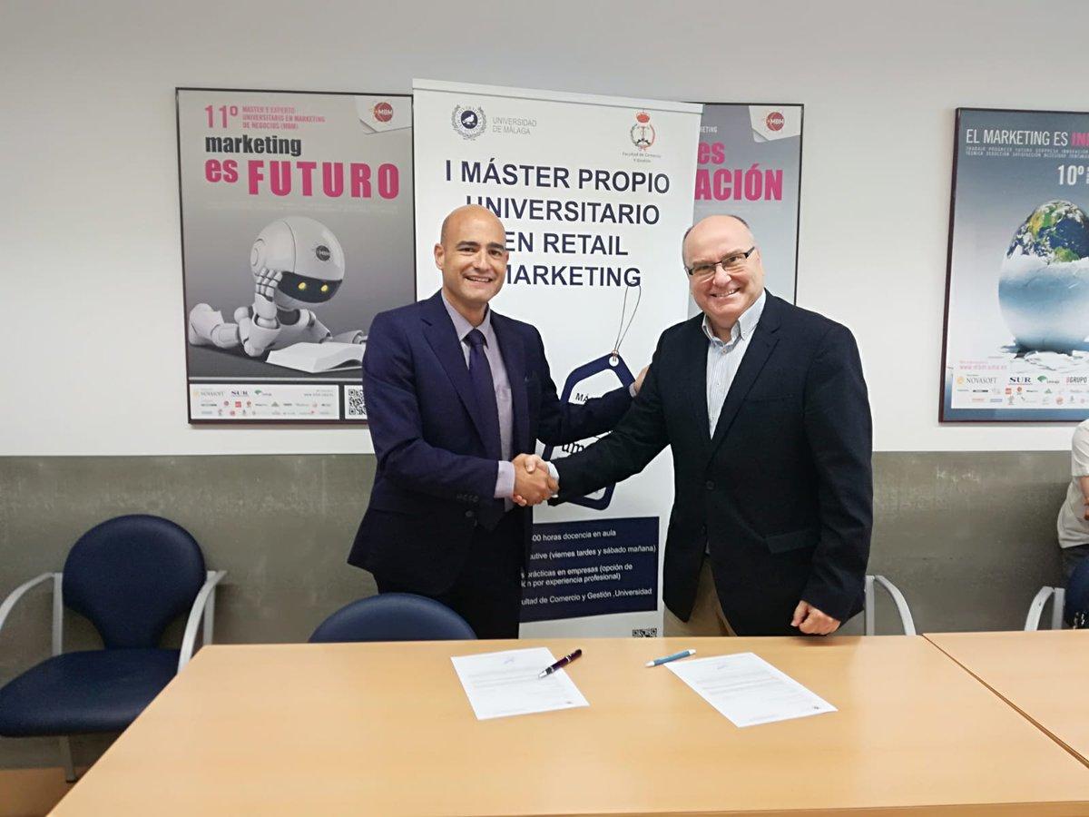 Acuerdo de colaboración entre el Club de Marketing de Málaga y el Máster Propio Universitario en Retail Marketing