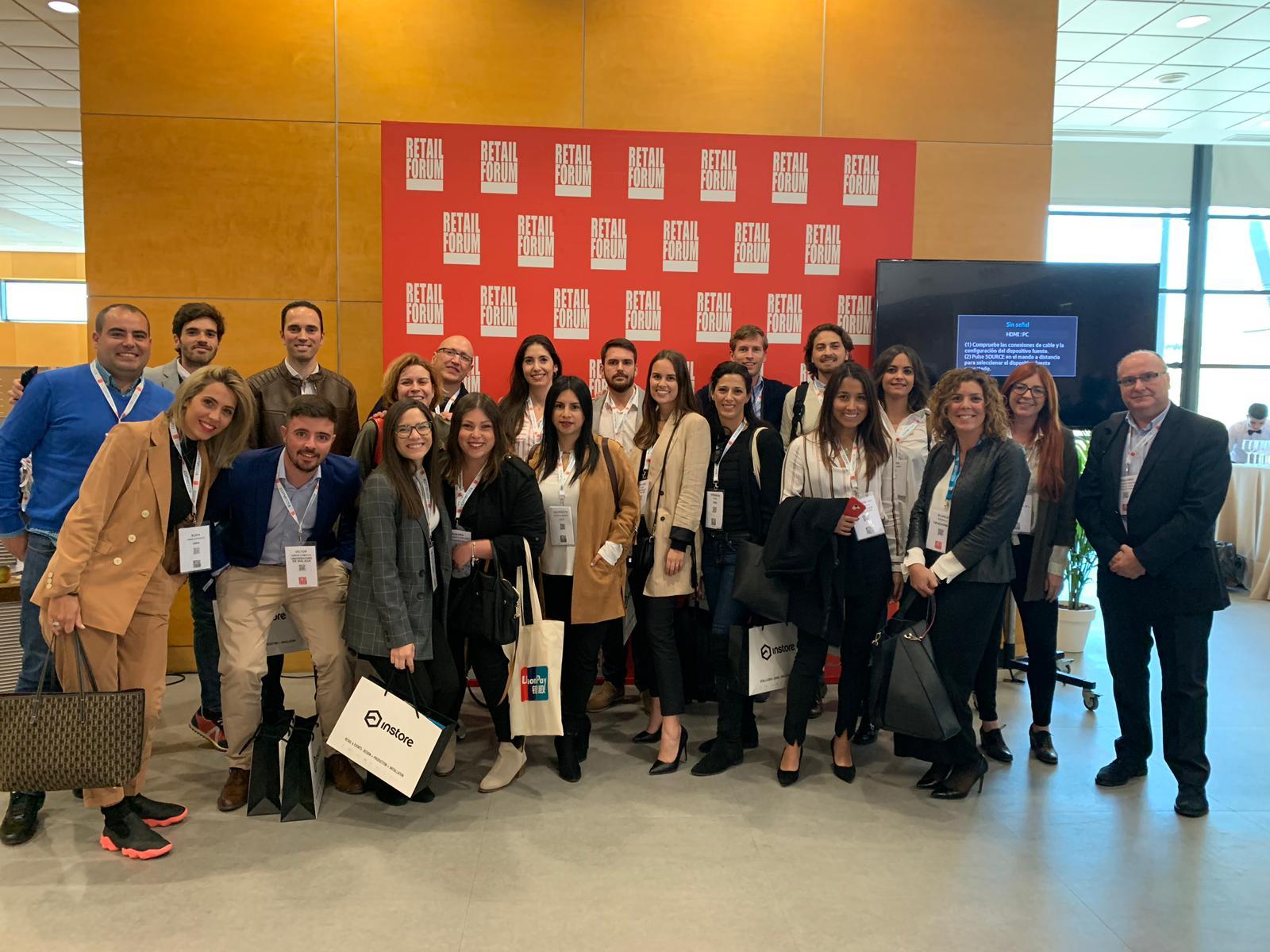 Los alumnos del Máster de Retail Marketing asisten al Retail Fórum 2019, en Madrid, el evento de referencia del sector en España.