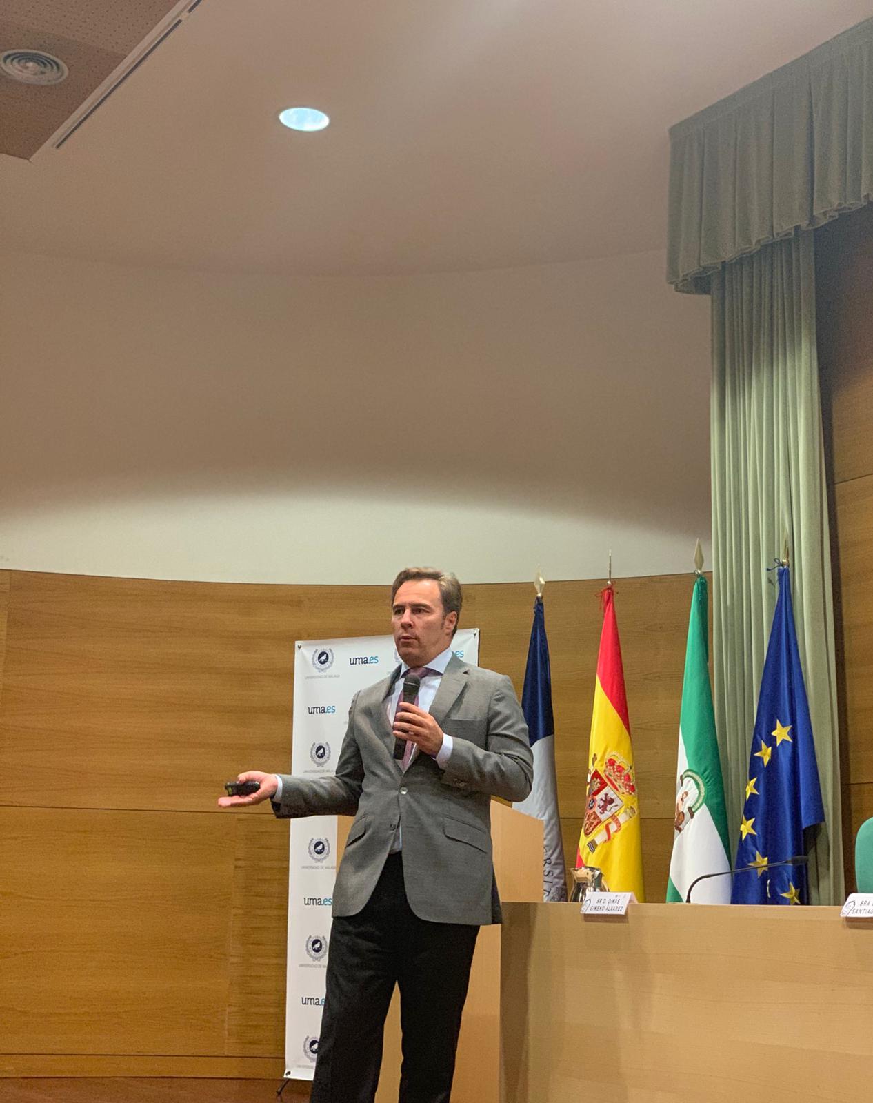 Dimas Gimeno imparte la conferencia de clausura del I Máster Propio Universitario en Retail Marketing de la Universidad de Málaga