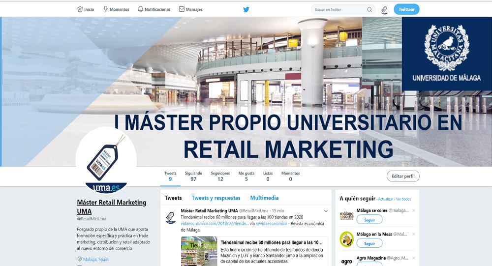 Ya están disponibles las redes sociales del Máster en Retail Marketing